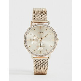 ヒューゴ ボス BOSS メンズ 腕時計 【1502519 infinity mesh watch in rose gold】Gold