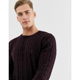 フレンチコネクション French Connection メンズ ニット・セーター トップス【100% cotton logo cable knit jumper】Red