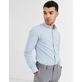 カルバンクライン Calvin Klein メンズ シャツ トップス【stripe easy iron shirt】Blue