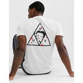ハフ HUF メンズ Tシャツ トップス【x betty boop triple triangle t-shirt in white】White