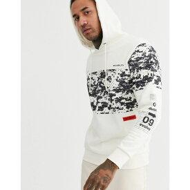 ジャック アンド ジョーンズ Jack & Jones メンズ パーカー トップス【core oversize fit logo hoodie in off white】Cloud dancer