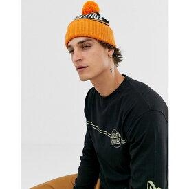 サンタクルーズ Santa Cruz メンズ ニット 帽子【strip stripe beanie in black/orange】Black