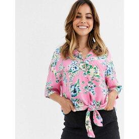 リーバイス Levi's レディース ブラウス・シャツ トップス【clover tie front shirt】Sachet pink