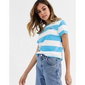 リーバイス Levi's レディース Tシャツ トップス【stripe t-shirt】Swim blue/clo