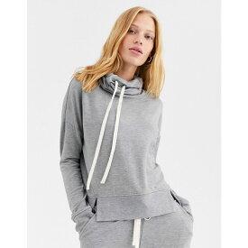 アグ UGG レディース パーカー トップス【miya funnel neck hoodie】Grey heather