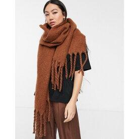 ウィークデイ Weekday レディース マフラー・スカーフ・ストール 【mind scarf in brick orange】Brown reddish