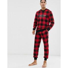 カルバンクライン Calvin Klein メンズ ジョガーパンツ ボトムス・パンツ【Modern Cotton logo cuffed joggers in red buffalo check】Red