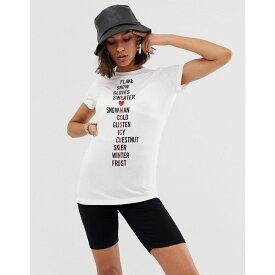 モスキーノ Love Moschino レディース Tシャツ トップス【snow crossword logo t-shirt】A00 white