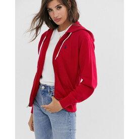 ラルフ ローレン Polo Ralph Lauren レディース パーカー トップス【zip through classic hoodie】Rl 2000 red