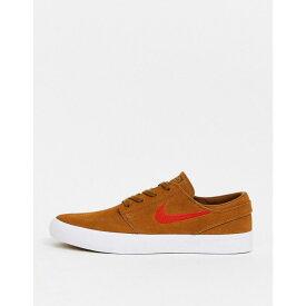 ナイキ Nike SB メンズ スニーカー シューズ・靴【Zoom Janoski trainers in brown with orange swoosh】Tan