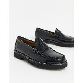ジーエイチ バス G.H. Bass メンズ ローファー チャンキーヒール シューズ・靴【GH bass easy weejun 90 chunky loafers in black】Black