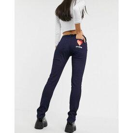モスキーノ Love Moschino レディース ジーンズ・デニム ボトムス・パンツ【heart logo skinny jeans】l indigo denim