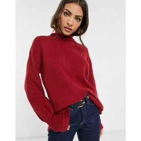フレンチコネクション French Connection レディース ニット・セーター トップス【Orla Flossy balloon sleeve high neck jumper in wool blend】Deep framboise