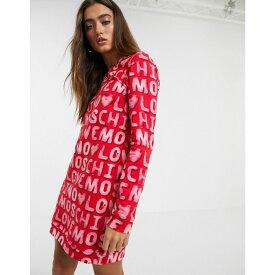 モスキーノ Love Moschino レディース ワンピース ワンピース・ドレス【allover logo sweat dress】red