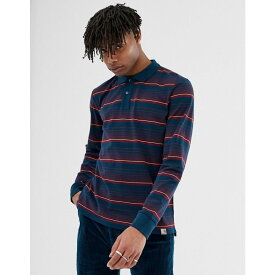 カーハート Carhartt WIP メンズ ポロシャツ トップス【long sleeve stripe Novi polo in duck blue】Novi stripe duck blu
