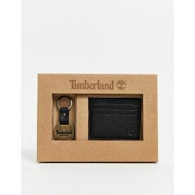 ティンバーランド Timberland メンズ カードケース・名刺入れ カードホルダー キーリング【card holder & keyring gift set in black】Black