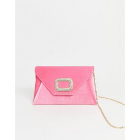 エイソス ASOS DESIGN レディース クラッチバッグ バッグ【diamante buckle clutch bag with detachable strap】Neon pink