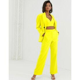 エイソス ASOS EDITION レディース ボトムス・パンツ 【high waist mansy suit trouser】Yellow