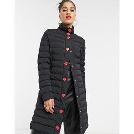 モスキーノ Love Moschino レディース ダウン・中綿ジャケット ロングコート アウター【tube quilted longline coat】Black