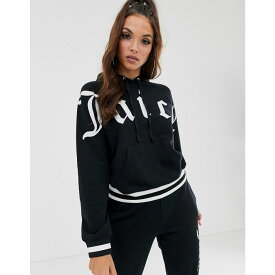 ジューシークチュール Juicy Couture レディース パーカー トップス【gothic logo hoodie】Pitch black