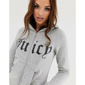 ジューシークチュール Juicy Couture レディース パーカー トップス【gothic logo zip through hoodie】Heather cozy