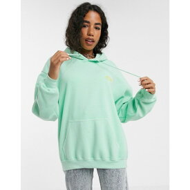 ヴィンテージ サプライ Vintage Supply レディース パーカー トップス【oversized hoodie with embroidered chest logo】Mint green