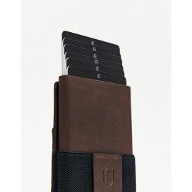 エクスター Ekster レディース カードケース・名刺入れ 【senate smart RFID cardholder wallet - Classic Brown】Brown