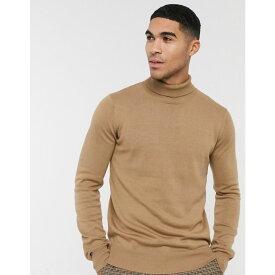 ベンチ Bench メンズ ニット・セーター トップス【knitted roll neck in camel】Tan