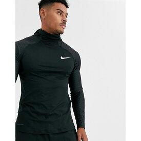 ナイキ Nike Training メンズ トップス 【Nike Pro Training therma long sleeve hooded top in black】Black