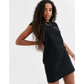 モスキーノ Love Moschino レディース ワンピース Tシャツワンピース ワンピース・ドレス【core logo t-shirt dress】Black