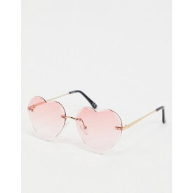 エイソス ASOS DESIGN レディース メガネ・サングラス 【bevel rimless heart sunglasses in pink】Pink