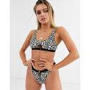 リュクスパーム Luxe Palm レディース トップのみ 水着・ビーチウェア【Vine Print Cut Out Bikini Top with Gold Zip…