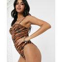 サウスビーチ South Beach レディース ワンピース 水着・ビーチウェア【tiger print high leg swimsuit】Tiger