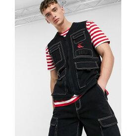 カール カナイ Karl Kani メンズ ベスト・ジレ トップス【Denim utility vest in black】Black