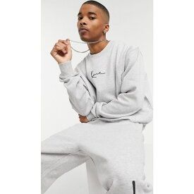 カール カナイ Karl Kani メンズ スウェット・トレーナー トップス【Signature sweatshirt in grey】Grey