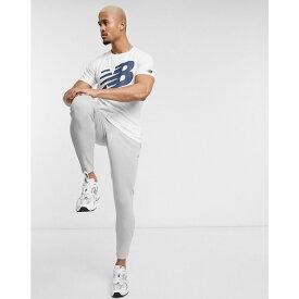 ニューバランス New Balance メンズ ランニング・ウォーキング Tシャツ トップス【Running graphic logo t-shirt in white】White
