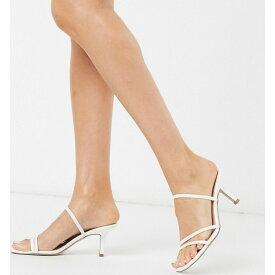 スティーブ マデン Steve Madden レディース サンダル・ミュール シューズ・靴【Loft mid heel naked sandal in white】White