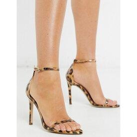 スティーブ マデン Steve Madden レディース サンダル・ミュール シューズ・靴【Abby strappy sandal with pointed toe in leopard patent】Leopard patent