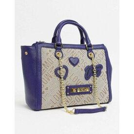 モスキーノ Love Moschino レディース トートバッグ バッグ【Tote Bag With Patches In Blue】Blue