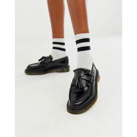 ドクターマーチン Dr Martens レディース ローファー・オックスフォード シューズ・靴【Adrian tassle loafer in black】Black smooth