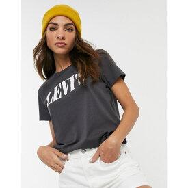 リーバイス Levi's レディース Tシャツ ロゴTシャツ トップス【Perfect 90's logo tee】T caviar