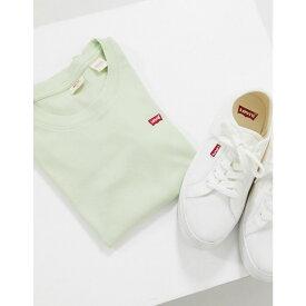 リーバイス Levi's レディース Tシャツ ロゴTシャツ トップス【Perfect 90's logo tee in sage】Bok choy