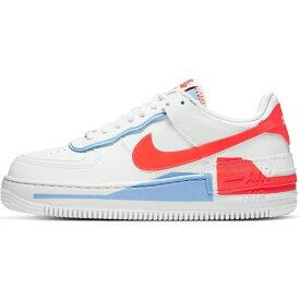ナイキ Nike レディース スニーカー エアフォースワン シューズ・靴【Air Force 1 Shadow trainers in white red and blue】Team orange