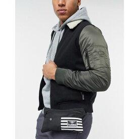 ヒュンメル Hummel メンズ ボディバッグ・ウエストポーチ バッグ【Hive waist bag in black】Black