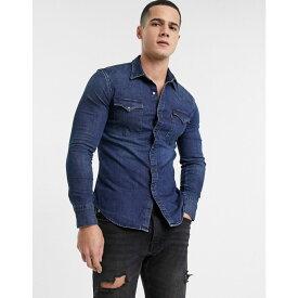 リーバイス Levi's メンズ シャツ デニム トップス【barstow western slim fit denim shirt in modern stretch dark worn】Modern stretch dark