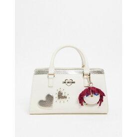 モスキーノ Love Moschino レディース トートバッグ バッグ【mini tote bag with hearts in ivory】Ivory
