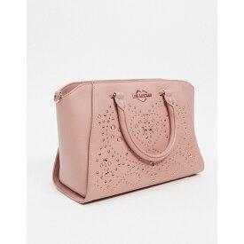 モスキーノ Love Moschino レディース トートバッグ バッグ【tote bag with studding detail in pink】Pink