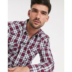 リーバイス Levi's メンズ シャツ トップス【barstow western check long sleeve shirt】Red