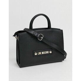 モスキーノ Love Moschino レディース トートバッグ バッグ【tote bag with scarf handle in black】Black