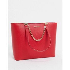 モスキーノ Love Moschino レディース トートバッグ バッグ【large tote bag with chain in red】Red